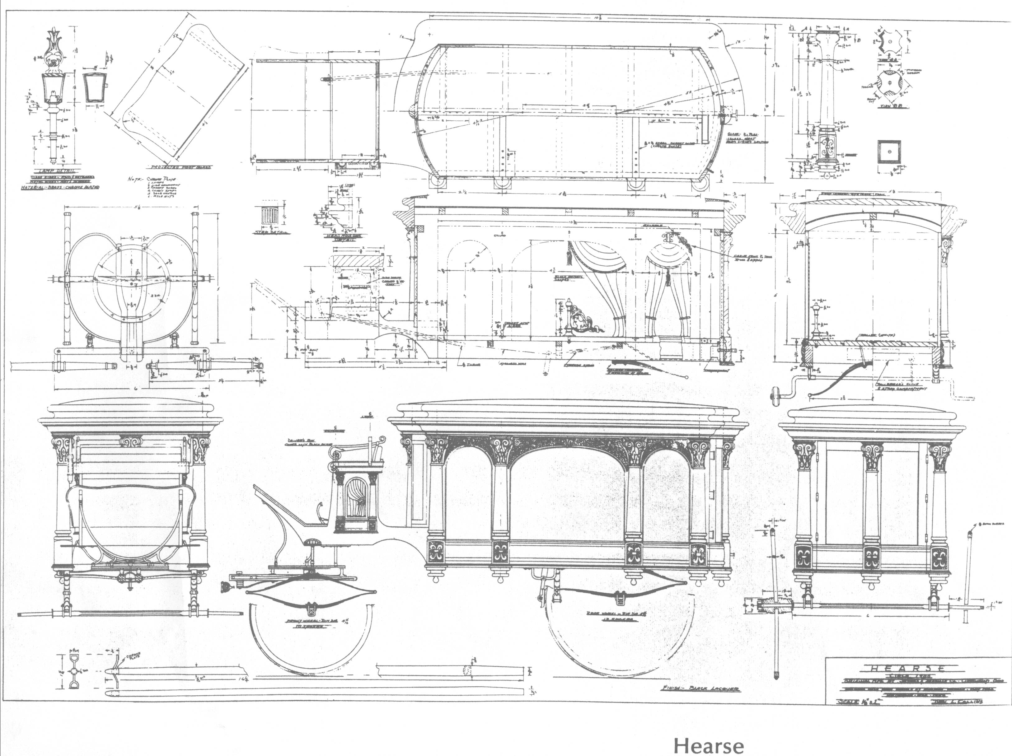 Static plans for horse drawn hearse for How to build a carriage